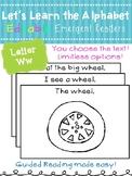 Letter Ww *Editable* Alphabet Emergent Reader