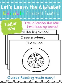 Letter Ww *Editable* Alphabet Emergent Reader