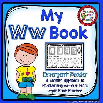 Letter Ww Letter Book for Recognition, Phonic, Letter Formation and HWT Style