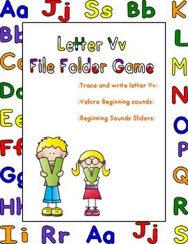 Letter Vv File Folder Game
