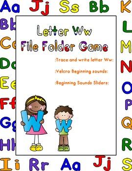 Letter Ww File Folder Game