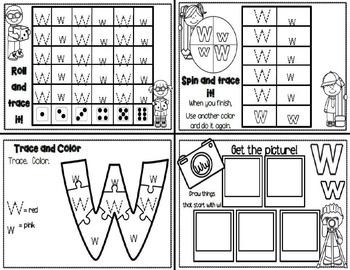 Letter Ww- Interactive Activities Booklet