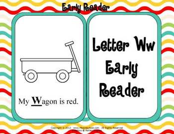 Letter Ww Language & Literacy Activity Center {COMMON CORE ALIGNED}