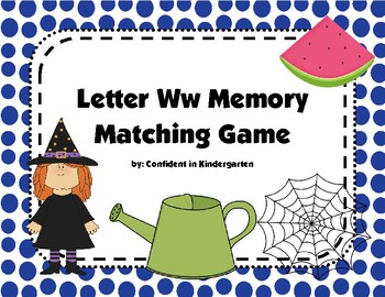 Letter Ww Memory Game