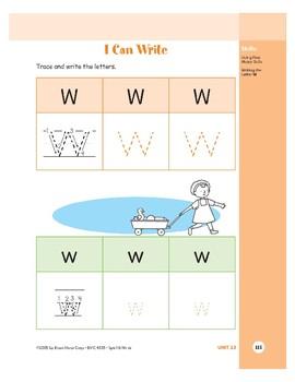 Letter Ww (Wagon)