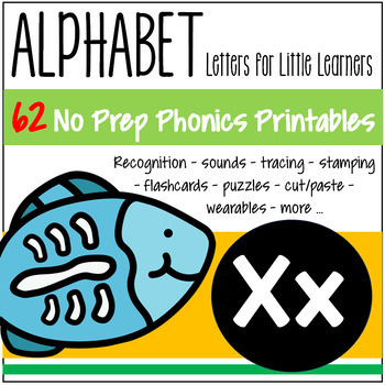 Alphabet X Letter of the Week Phonics Recognition, Sound, Tracing & Craftivities