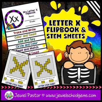 Letter X Alphabet Flip Book (Alphabet Interactive Notebook Activities)