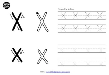 Letter X Activities and Worksheets