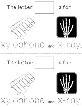 Letter X: Alphabet Activity Book