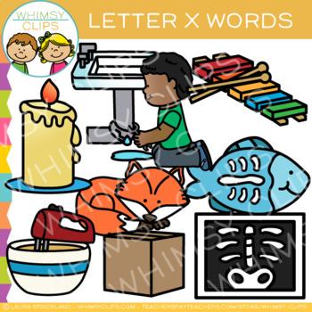 Letter X Alphabet Clip Art