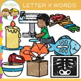 Letter X Clip Art {Alphabet Beginning Sounds Clip Art}