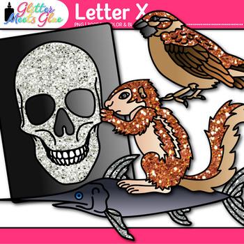 Letter X Alphabet Clip Art {Teach Phonics, Recognition, and Identification}