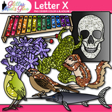 Letter X Alphabet Clip Art | Teach Phonics, Recognition, and Identification
