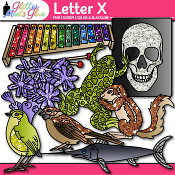 Letter X Alphabet Clip Art {Teach Phonics, Recognition, an