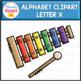 Letter X Alphabet Clipart  (Beginning Sounds)