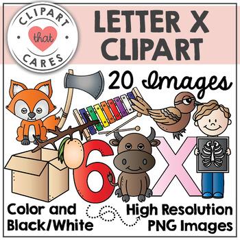 Letter X Alphabet Clipart by Clipart That Cares