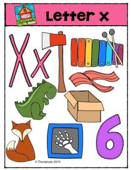 Letter X - Alphabet Pictures {P4 Clips Trioriginals Digital Clip Art}