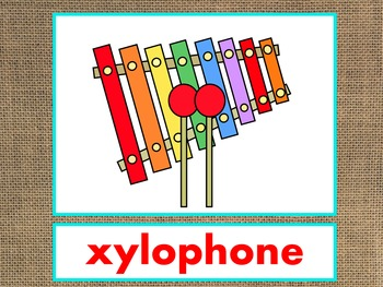 Letter X Alphabet PowerPoint Fun & Colorful Words w/Pictures (Expandable)