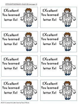 Letter X Unit - Differentiated Letter Writing Pages & Activities