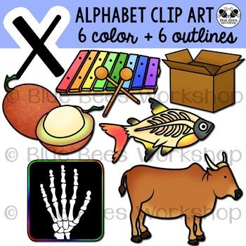 Letter X Clip Art Alphabet / Beginning Sound X