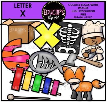 Letter X Clip Art Bundle {Educlips Clipart}