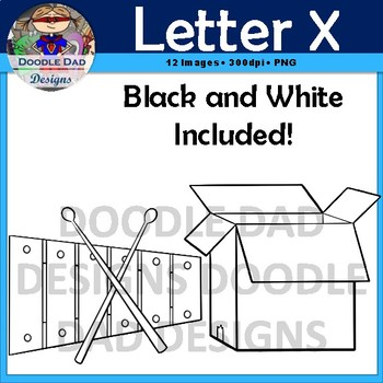 Letter X Clip Art (Xylophone, X-Ray, Mixer, Box, Six, Relax)
