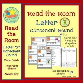 Letter X Consonant Sound Read the Room