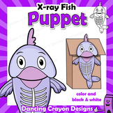Letter X Craft Activity   Paper Bag Puppet X-ray Fish