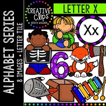 Letter X {Creative Clips Digital Clipart}