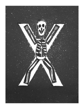 Letter X Cut/Paste Craft Template - X is for X-ray