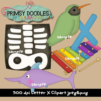 Letter X Early Learning Clipart