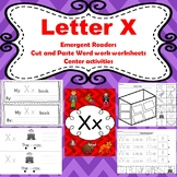 Letter X activities (emergent readers, word work worksheet