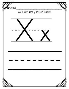 Aprendiendo la Letra X