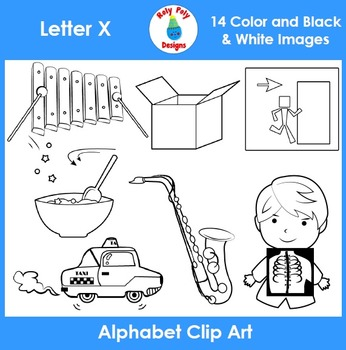 Letter X Phonics Clip Art Set