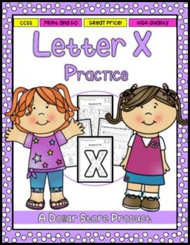 Letter X Practice Printables
