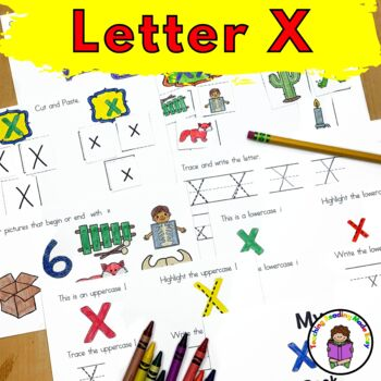 Letter X- Print and Go Letter of the Week lessons