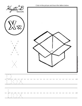 Letter X Trace and Write Worksheet Pack