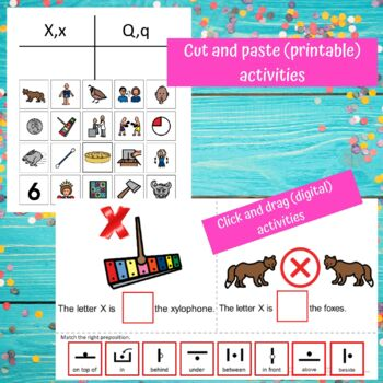 Letter of the Week Letter X Unit for Special Education