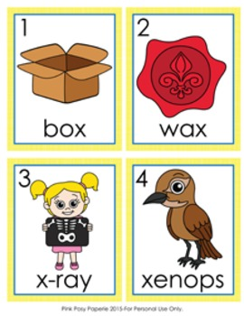 Letter X Words Write the Room Activity