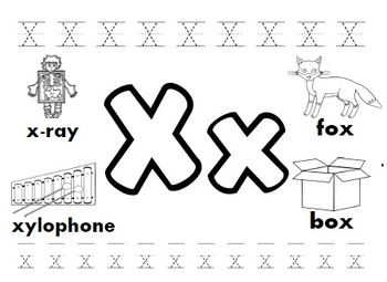 Letter X Worksheets!