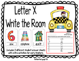 Letter X Write the Room- Includes 3 levels of answer sheets