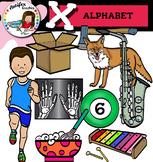 Letter X clip art set