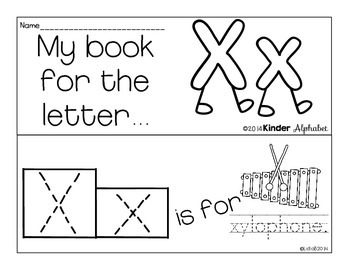 Letter Xx Booklet- Predictable Sentences