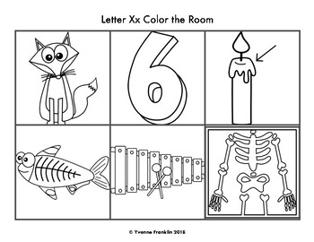 Letter Xx Color, Trace & Write the Room
