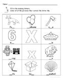 Letter Xx Words Coloring Worksheet