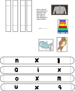 Letter Xx File Folder Game