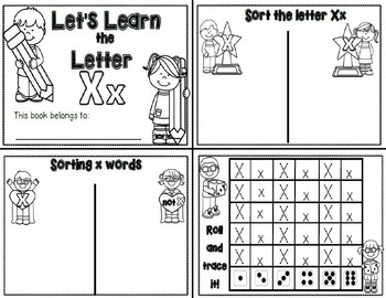 Letter Xx- Interactive Activities Booklets