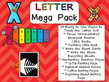 Letter Xx Mega Pack- Kindergarten Alphabet- Handwriting, L