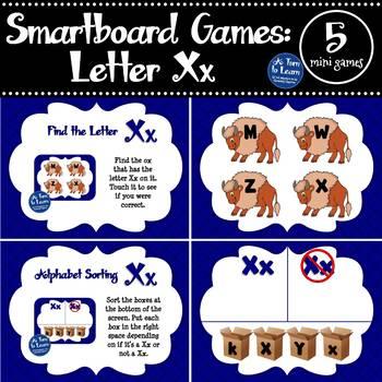 Letter Xx Smartboard Games (5 mini games) (Smartboard/Promethean Board)