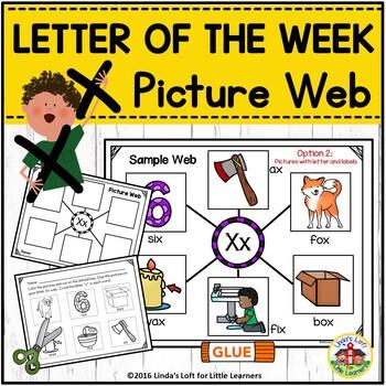 Letter Xx  Picture Web Activity